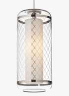 Tech Ecran Contemporary 4 Inch Diameter Mini Pendant Light Fixture - Platinum Moroccan Pattern