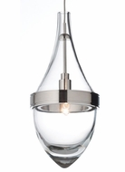 Tech Parfum Contemporary 4 Inch Diameter Clear Glass Mini Pendant Lamp