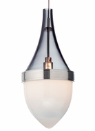 Tech Parfum Transparent Smoke & White Glass 9 Inch Tall Mini Pendant Light Fixture