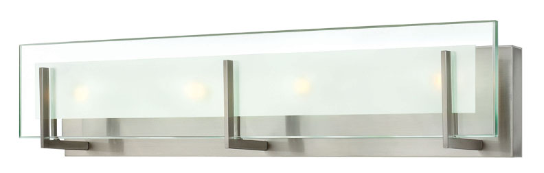 hinkley 5654bn latitude modern 4-light glass bathroom lighting