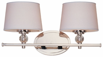 Maxim 12762WTPN Rondo 2-light Small Bathroom Vanity Fixture