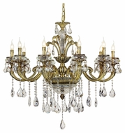 Trans Globe JD-10 AB Large 10 Candle 40 Inch Diameter Brass Chandelier Lamp