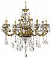 Trans Globe JD-8 AB Medium Antique Brass Finish 8 Candelabra Chandelier Lighting Fixture
