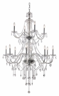 Trans Globe HM-12 PC Large Polished Chrome 37 Inch Diameter 12 Candle Chandelier Light