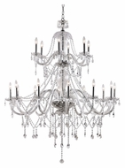 Trans Globe HM-18 PC Extra Large 18 Candle Dining Room Chandelier Lamp