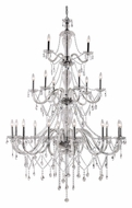 Trans Globe HM-21 PC 69 Inch Tall Polished Chrome 3 Tier Chandelier - 21 Candles