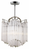 Trans Globe HP-3 PC Large 15 Inch Wide Crystal Lighting Chandelier - Polished Chrome