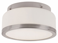 Trans Globe 10092 BN Small 8 Inch Wide Brushed Nickel Round Ceiling Lighting