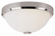 Trans Globe 10111 PC 13 Inch Diameter Polished Chrome Flush Mount Lighting