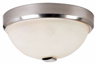 Trans Globe 10112 BN Flush Mount Large 15 Inch Diameter Brushed Nickel Ceiling Lamp