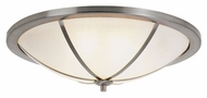 Trans Globe 10121 BN Large Brushed Nickel Flush Mount Lighting - 27 Inch Diameter