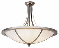 Trans Globe 10123 BN Small Brushed Nickel 23 Inch Diameter Semi Flush Light Fixture