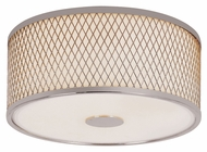 Trans Globe 10140 PC Flush Mount 12 Inch Diameter Polished Chrome Overhead Light