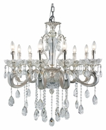 Trans Globe JB-8 SL Traditional 8 Candle Silver Ceiling Chandelier Lighting