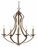 Trans Globe 70306 Antique Silver Finish 25 Inch Diameter 5 Candle Chandelier
