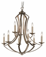 Trans Globe 70309 9 Candle Antique Silver Transitional Lighting Chandelier