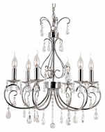 Trans Globe 70366 PC Small 22 Inch Diameter Polished Chrome Candelaba Chandelier