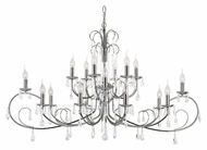 Trans Globe 70368 PC Large 18 Candle Polished Chrome Dining Room Chandelier