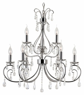 Trans Globe 70369 PC Medium Traditional 26 Inch Diameter 9 Light Chandelier