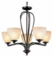 Trans Globe 70375 ROB Transitional 5 Lamp Rubbed Oil Bronze Chandelier Lamp
