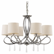 Trans Globe 70396 PC Small Polished Chrome 27 Inch Diameter Chandelier Light Fixture