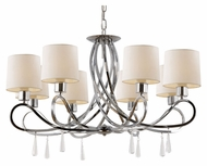 Trans Globe 70398 PC Large Traditional 30 Inch Diameter Chandelier - Polished Chrome