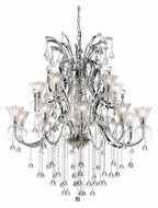 Trans Globe HF-15 PC Extra Large 15 Lamp Polished Chrome Ceiling Chandelier