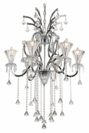 Trans Globe HF-6 PC Small 28 Inch Diameter Traditional Polished Chrome Chandelier Lamp