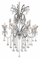 Trans Globe HF-8 PC Medium 32 Inch Diameter Polished Chrome Lighting Chandelier