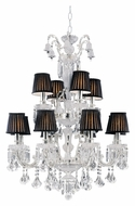 Trans Globe HK-12 PC Large 2 Tier Polished Chrome Traditional Chandelier Light Fixture