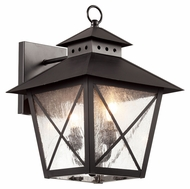Trans Globe 40172 BK Large Outdoor 14 Inch Tall 2 Lamp Sconce Lighting