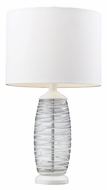 Dimond HGTV125 Modern Clear 23 Inch Tall Living Room Table Lamp