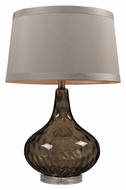 Dimond HGTV148 Dimpled Glass 24 Inch Tall Table Lamp - Coffee Smoke
