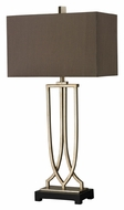 Dimond HGTV229 33 Inch Tall Silver Leaf Living Room Table Lamp