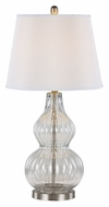 Trans Globe RTL-8793 Brushed Nickel Finish Clear Glass Bed Lamp
