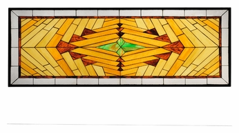 Meyda Tiffany 113370 Nuevo Mission 62 Inch Wide Stained Glass Wall Décor
