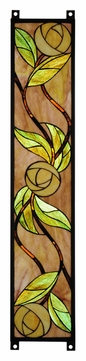 Meyda Tiffany 114713 Mackintosh Rose Stained Glass Window 35 Inch Tall Home Décor - Right