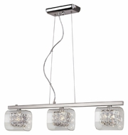 Trans Globe MDN-1111 27 Inch Wide Contemporary 3 Lamp Kitchen Island Light Fixture