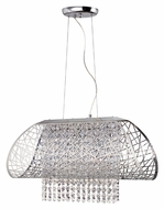 Trans Globe MDN-1128 5 Lamp Contemporary Crystal Bead Kitchen Island Lighting