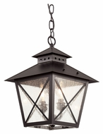 Trans Globe 40174 BK 14 Inch Tall Outdoor Pendant Lighting Fixture - Black