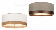 Tech 700FMTPO Topo Modern Drum Shade 20 Inch Diameter Flush Lighting With Wooden Trim