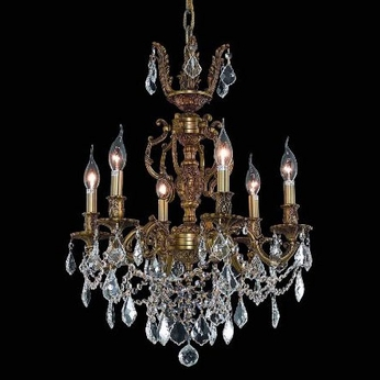 Elegant 9506D20FG-RC Marseille 6-light 20  French Gold Chandelier with Shade