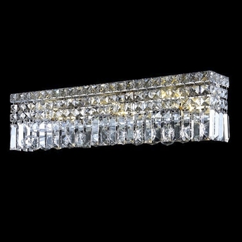 Elegant 2032w26c rc maxim small 26 crystal vanity light for Bathroom crystal light fixtures