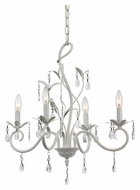 Trans Globe KDL-858 Clear Crystal 17 Inch Diameter Modern Chandelier - 5 Candles