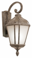 Trans Globe PL-5150 Traditional Small 22 Inch Tall Burnished Rust Outdoor Sconce