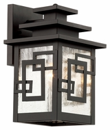 Trans Globe 40180 WB Small 11 Inch Tall Outdoor Lighting Sconce - Weathered Bronze