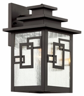 Trans Globe 40181 WB Medium Weathered Bronze 14 Inch Tall Outdoor Sconce