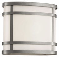 Trans Globe 40200 SL Small Outdoor 7 Inch Tall Rounded Silver Wall Light