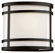 Trans Globe 40201 BK Large 8 Inch Tall Rounded Outdoor Wall Light Sconce