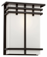 Trans Globe 40203 BK Large Outdoor Black Craftsman Style 12 Inch Tall Wall Light